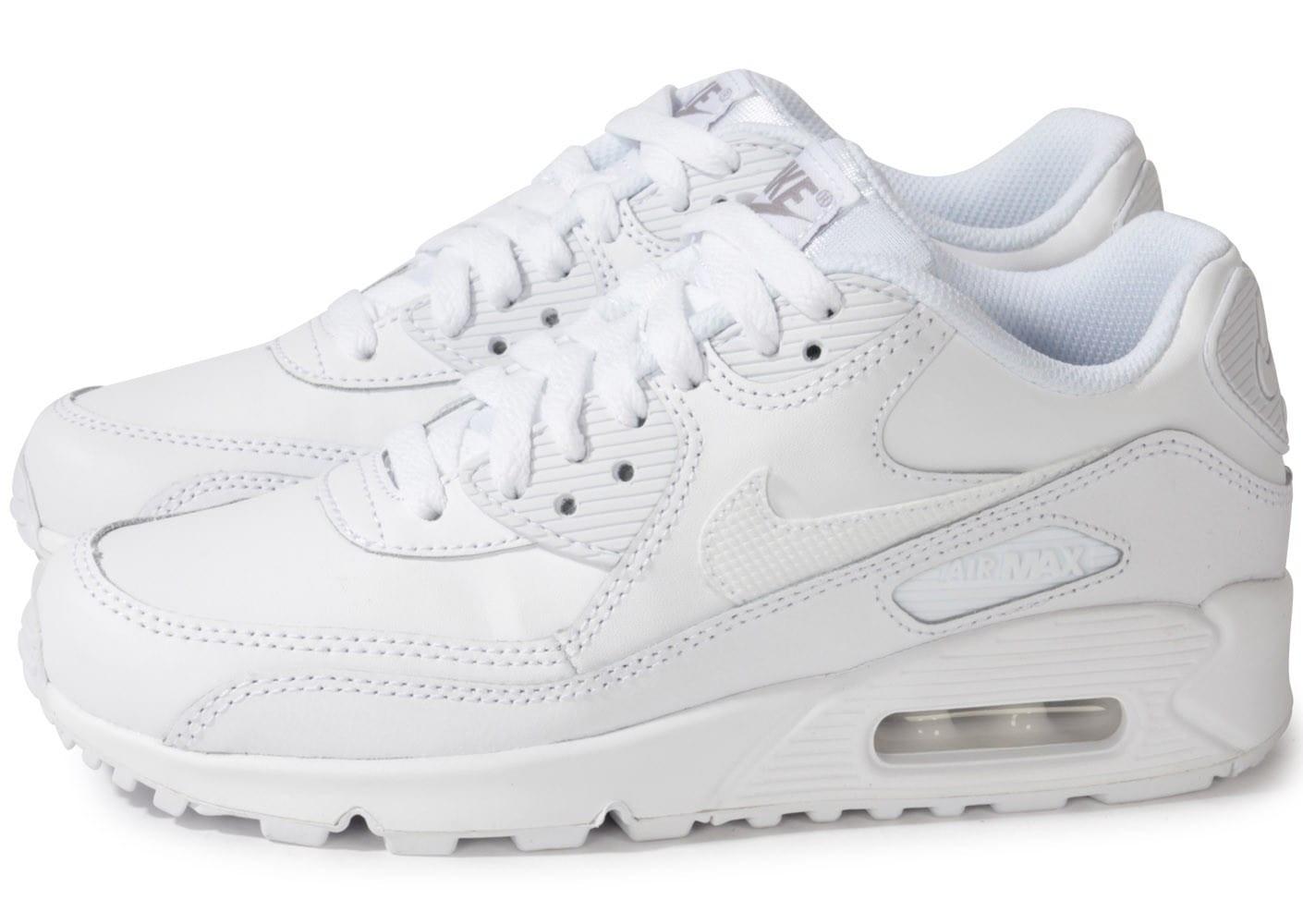 nike air max blanc femme,Nike AIR MAX 90 LEATHER Blanc ...